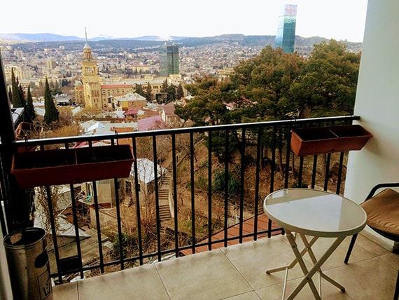 Отель в Тбилиси с видом на город