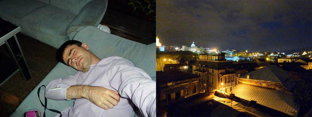 первая ночь в тбилиси