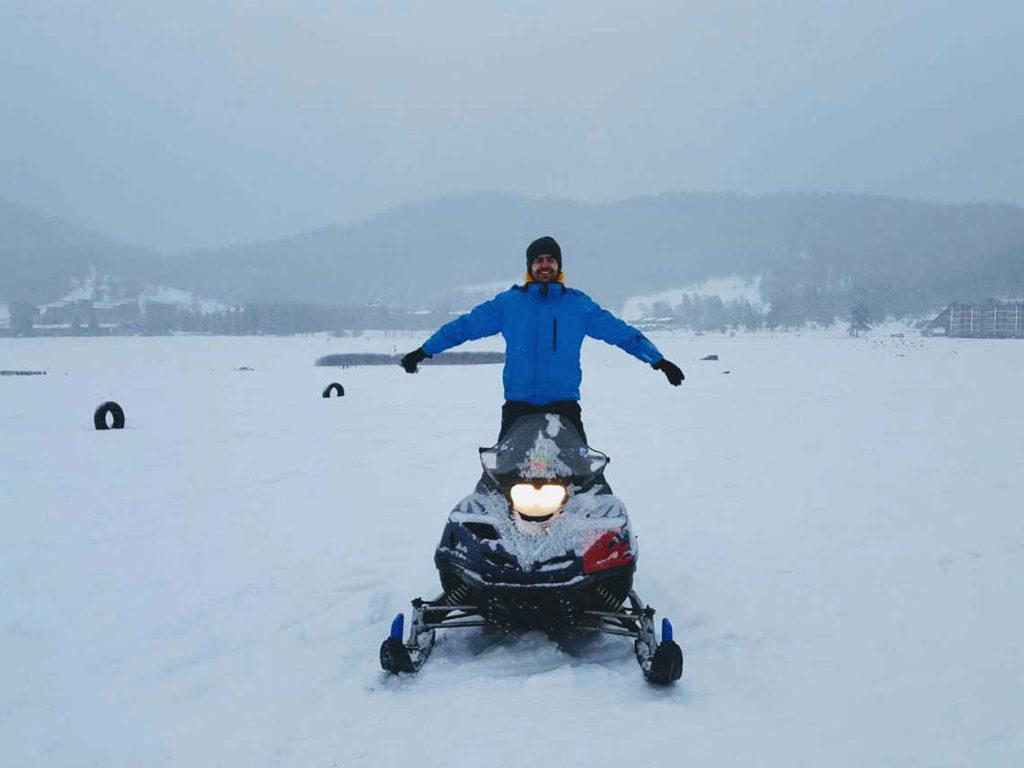 снегоход в бакуриани
