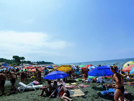 пляж Уреки в августе