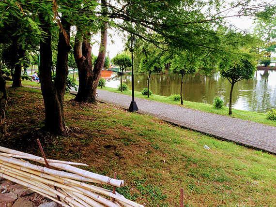 Аджарский Дом территория с озером