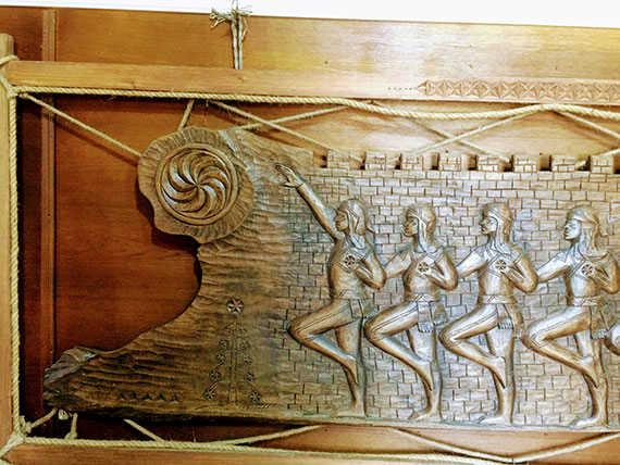 могильный камень с арабской надписью времен Османской империи в музее Борджгало