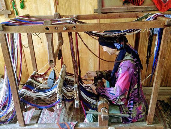 ткачиха 20 века в аджарской деревне