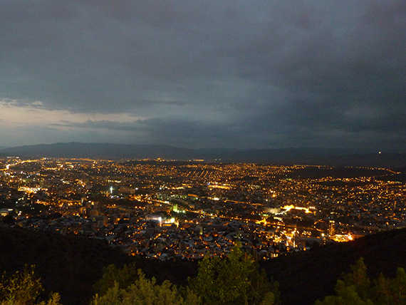 ночной тбилиси вид с нарикала