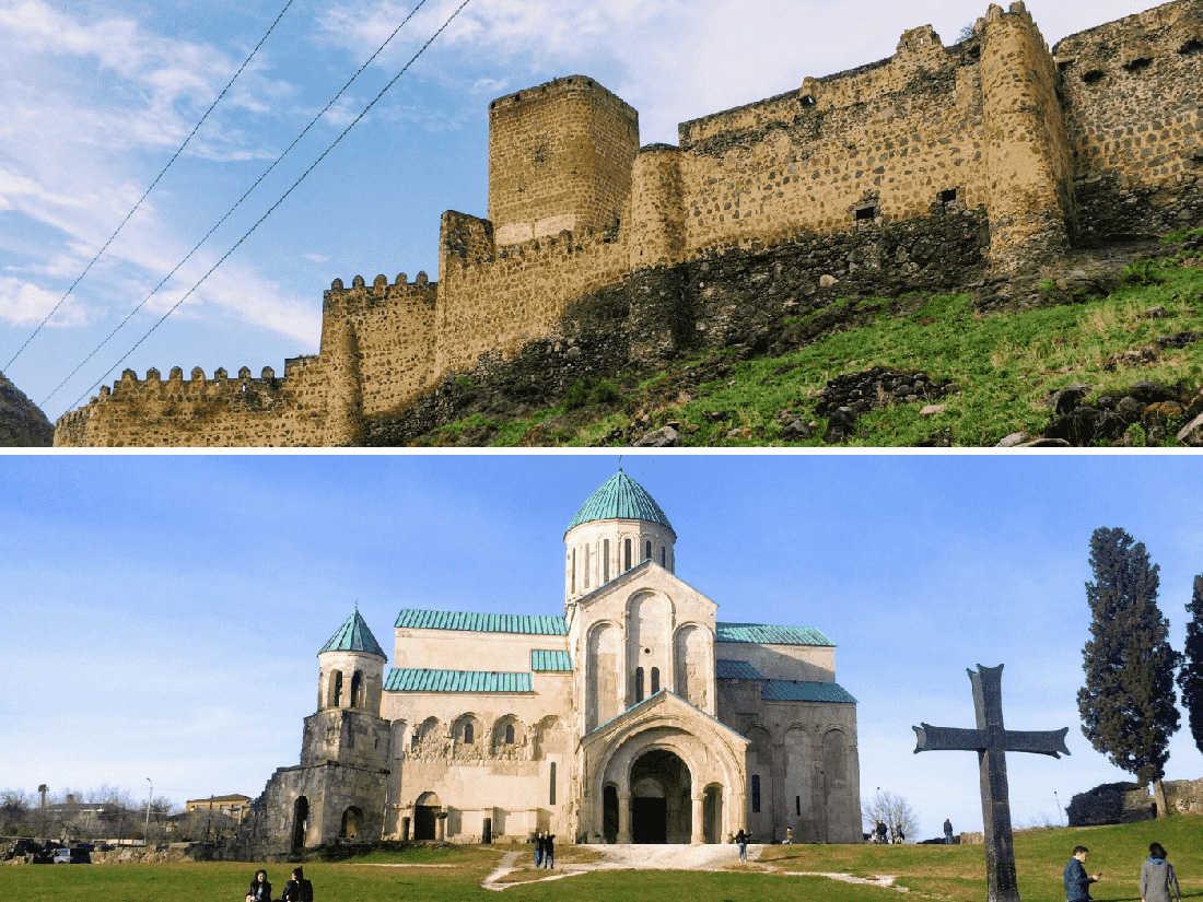 крепости и церкви в грузии